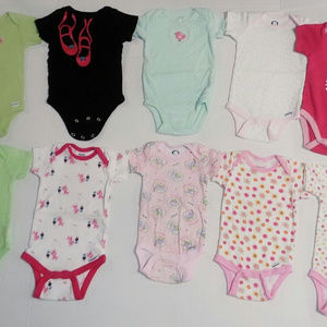 Baby Girl Infant 3 - 9 Month Onsies Bodysuit LOT